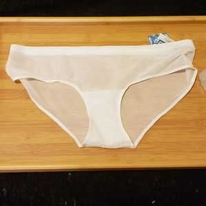FREE PEOPLE Intimately Mesh Underwear Ivory Small